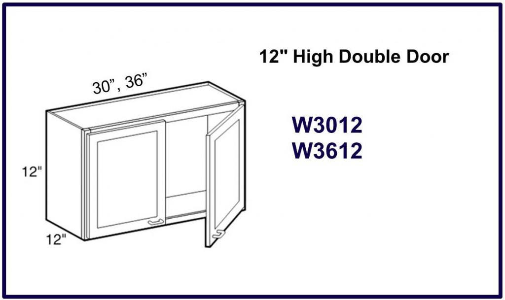 "12"" high double door wall cabinet"