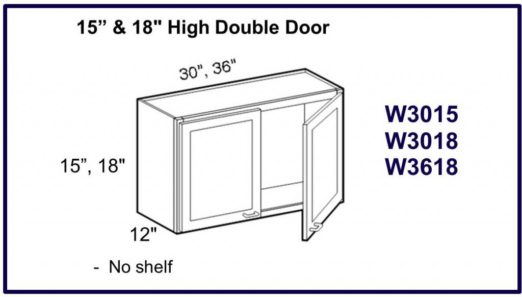 "15"" & 18"" high double door wall cabinet"