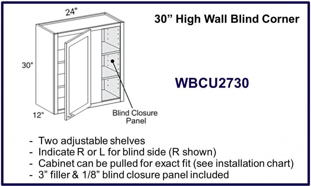"""30"""" high blind corner cabinet"""