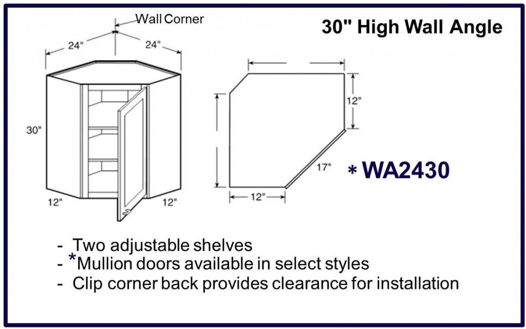 "30"" high wall corner cabinet"