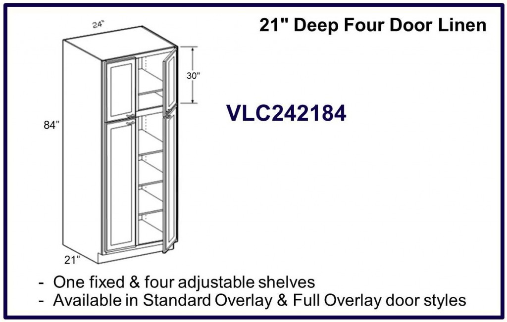 4 door linen cabinet
