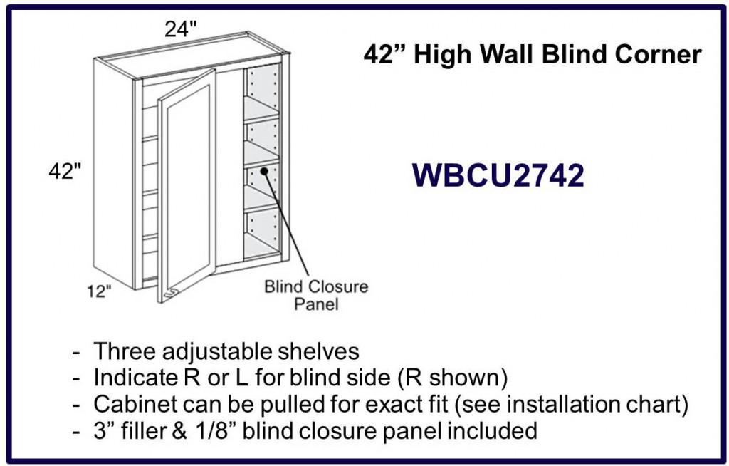 """42"""" high blind corner cabinet"""