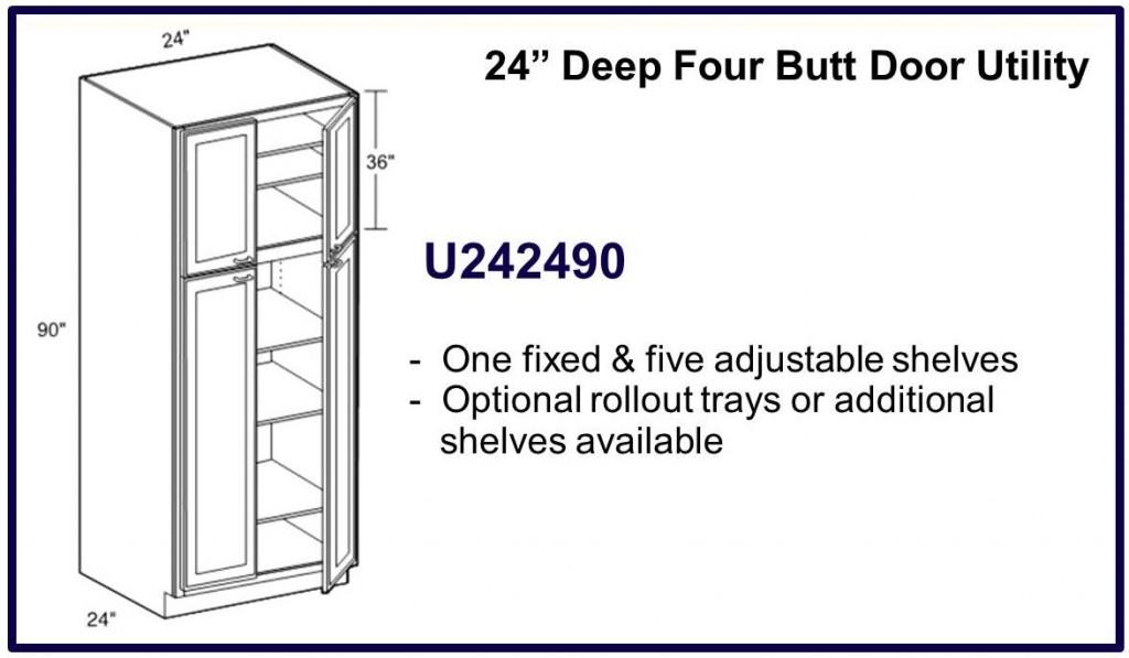 """90"""" high 4 door cabinet"""