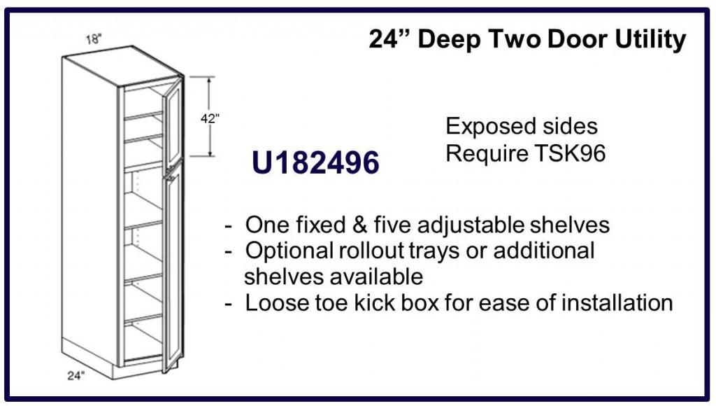 """96"""" high 2 door cabinet"""