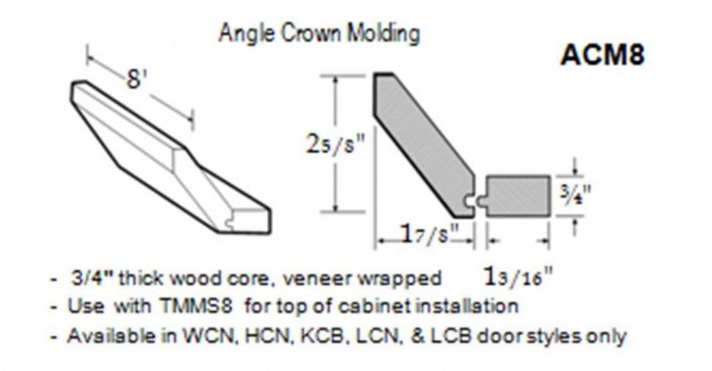 angle crown molding