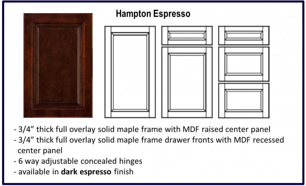 hampton door espresso colour