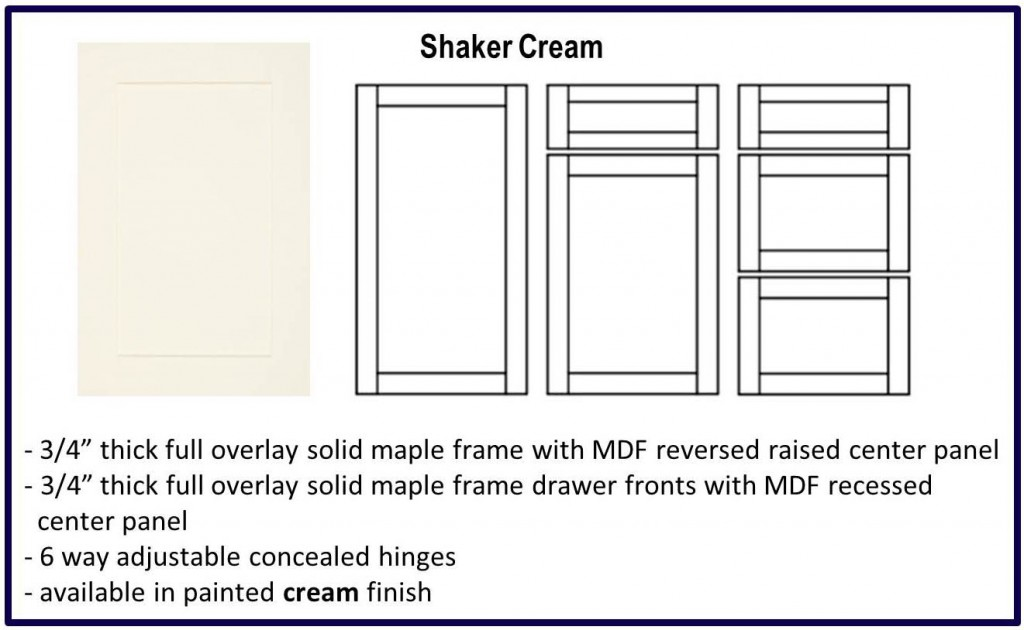 shaker door style cream colour
