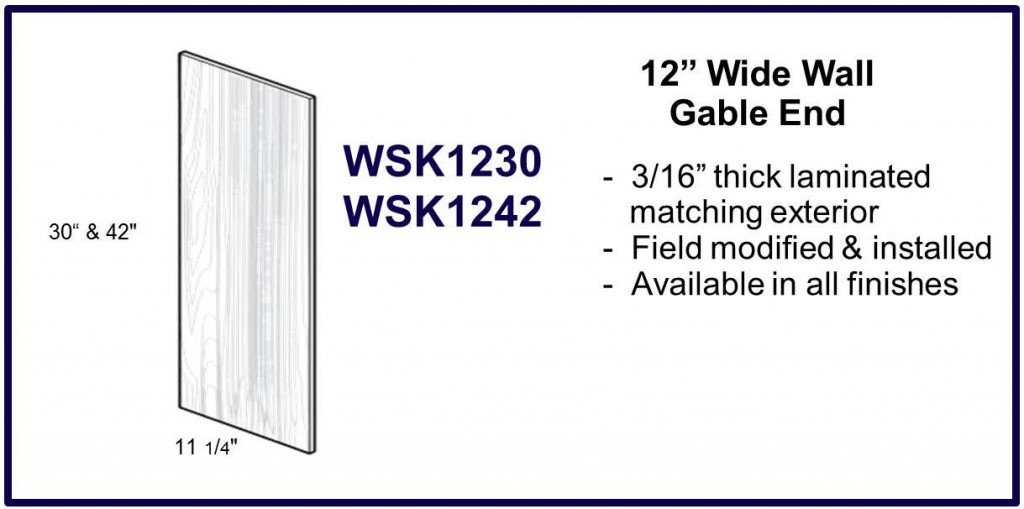"12"" wide gable end"