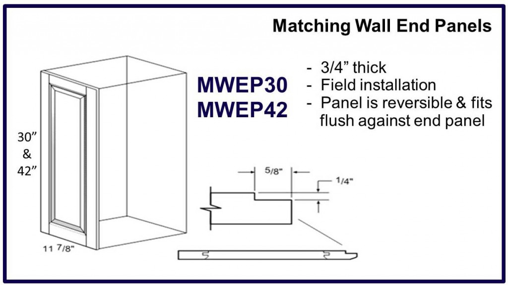 matching wall end panels